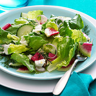 ... watermelon radish and fennel salad with meyer lemon vinaigrette