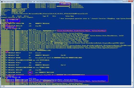 Debugging .NET code with SOS.dll