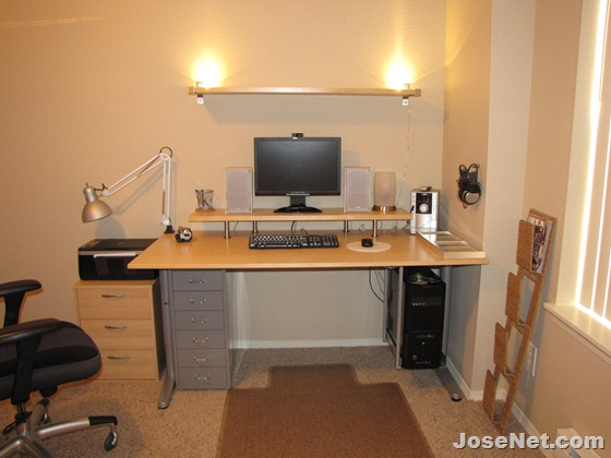 IKEA Galant Computer Desk with Monitor Riser