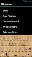 Screenshot of Wood Keyboard Skin