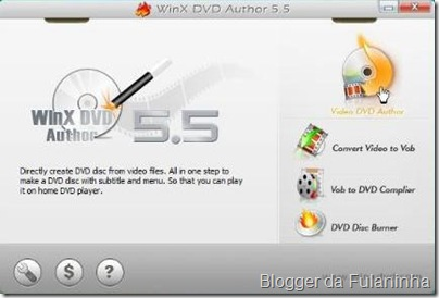 WinX DVD Author 5.5.8 - Imagem do programa