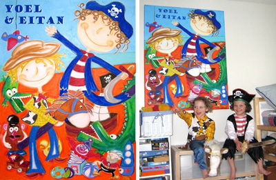 Personalized Canvas Portraits: Yoel and Eitan