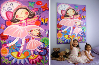 Personalized Canvas Portraits: Kiara and Cienna