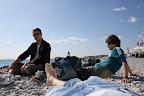Descanso na praia de Nice