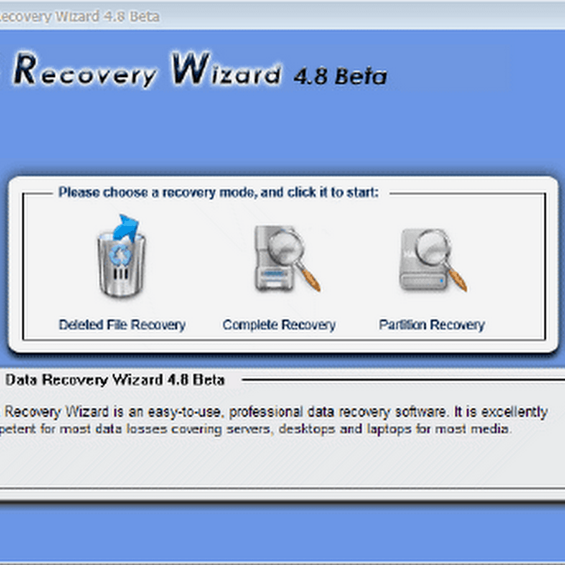 Free download EASEUS Data Recovery Wizard 4.8 Beta