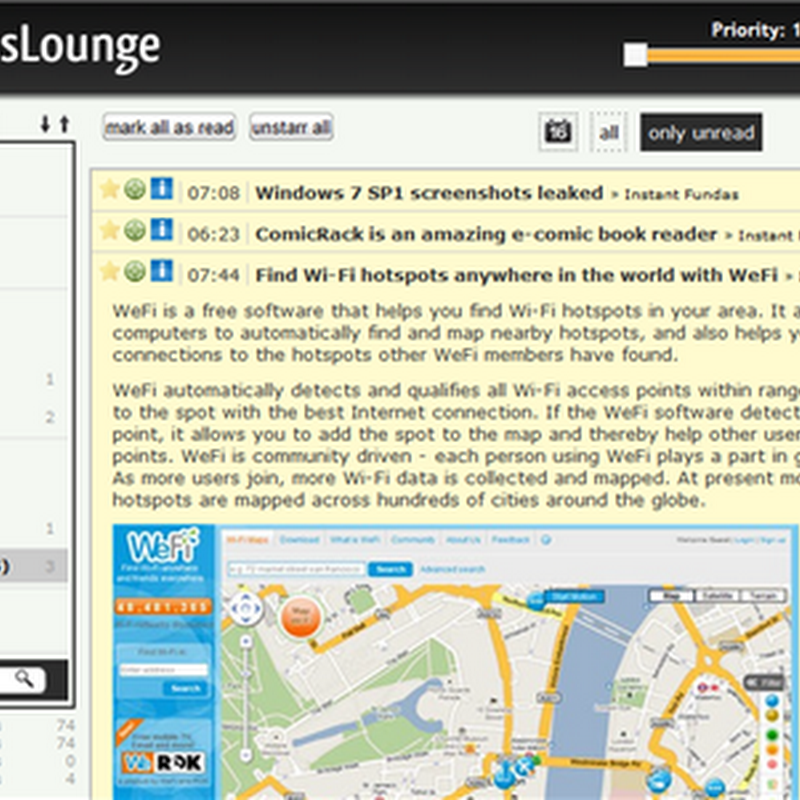 Create your own Google Reader like web based feed reader with rsslounge