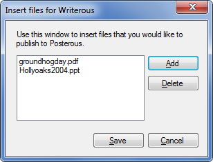 WriterousFiles