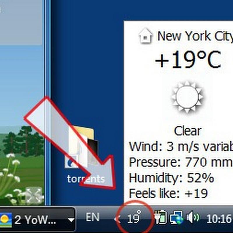 YoWindow – Beautiful weather reports on desktop or screensaver