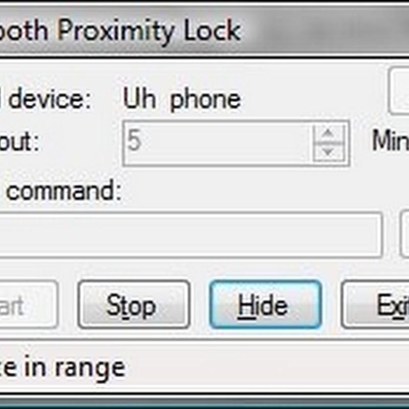 Automatically lock your computer when you walk away from it
