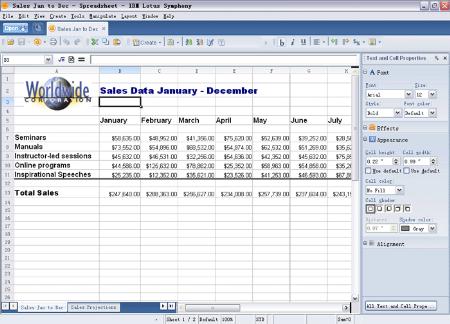 lotus-symphony-spreadsheets