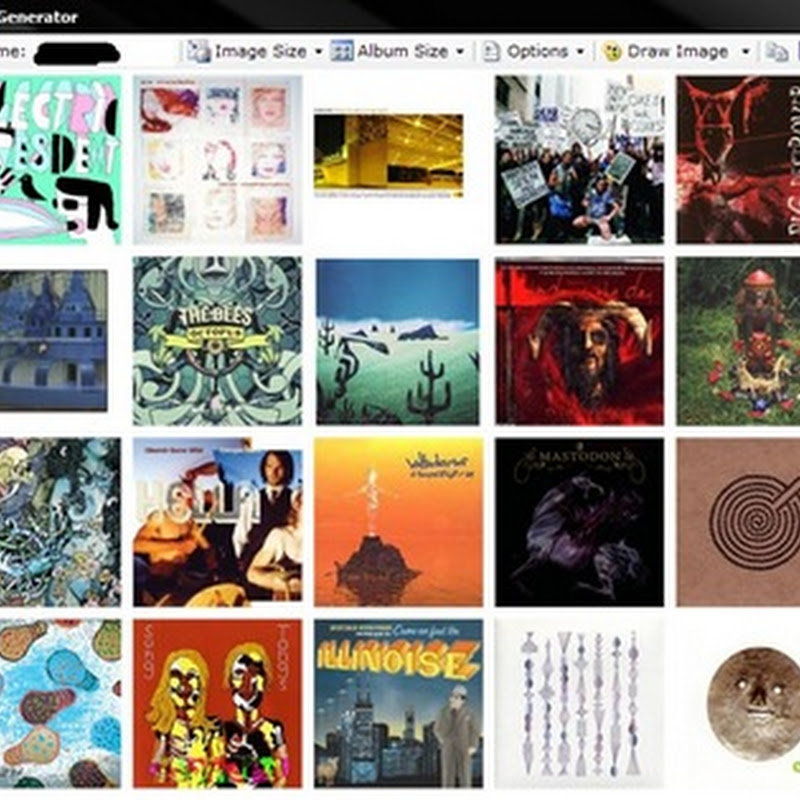 Create album cover mosaic wallpapers with Last.fm Desktop Generator