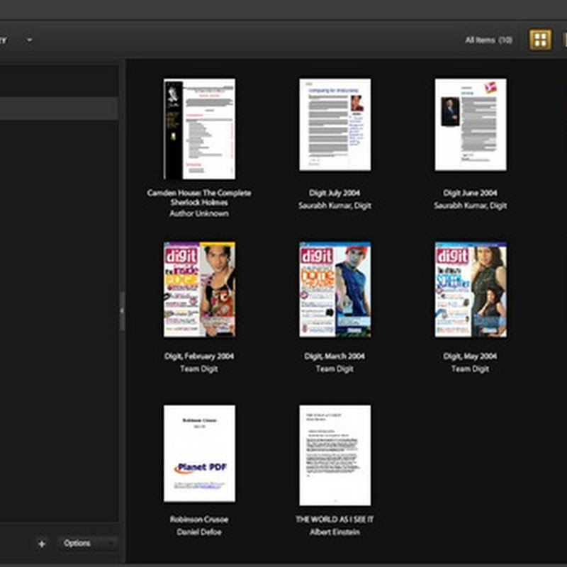 Adobe Digital Editions, a cool PDF manager and reader