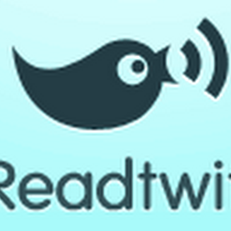 Readtwit - Read only links from your Twitter feed in RSS format