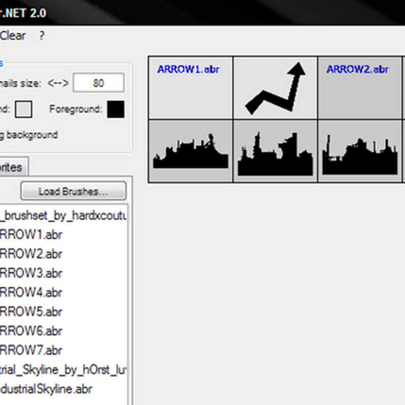 ABRViewer  View Photoshop brushes without opening Photoshop