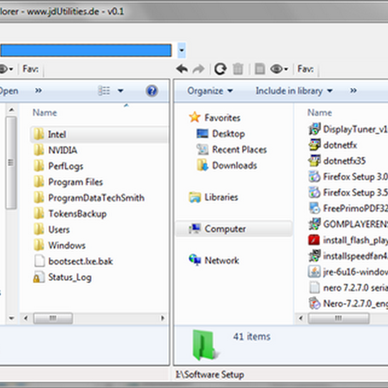 Windows Double Explorer – Dual panel Windows Explorer