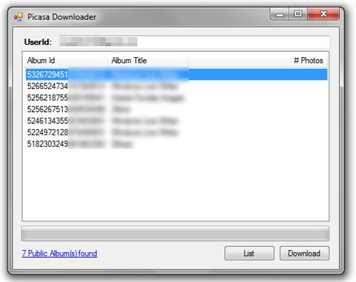 PicasaDownloader
