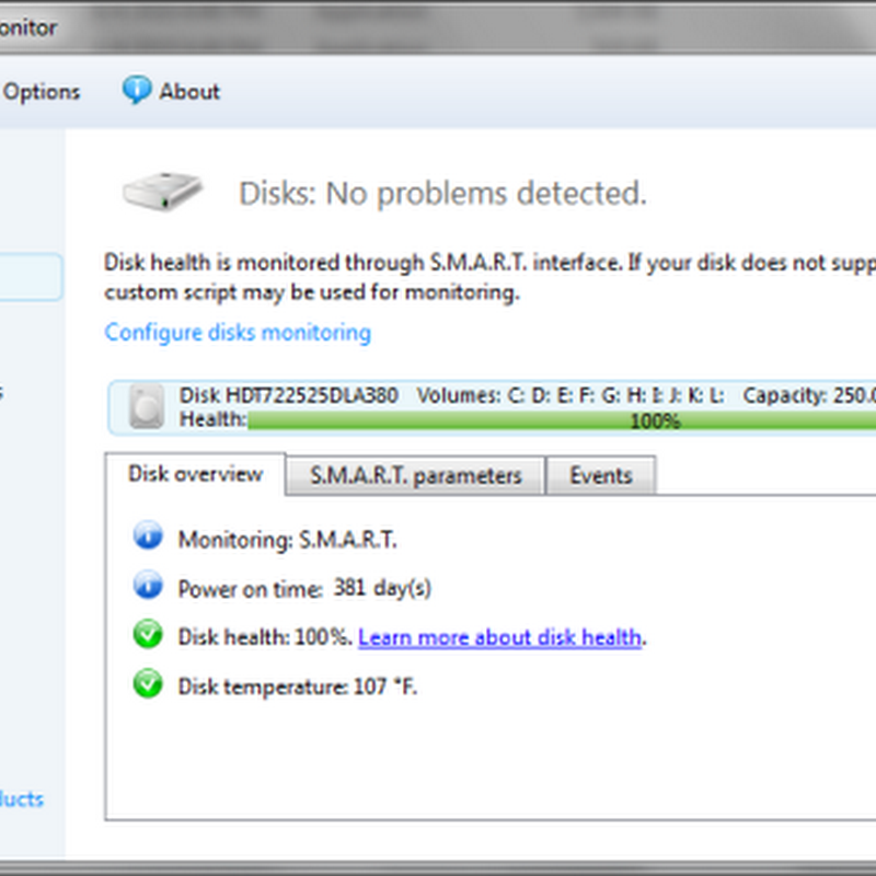 Acronis Drive Monitor helps predict Hard drive failure