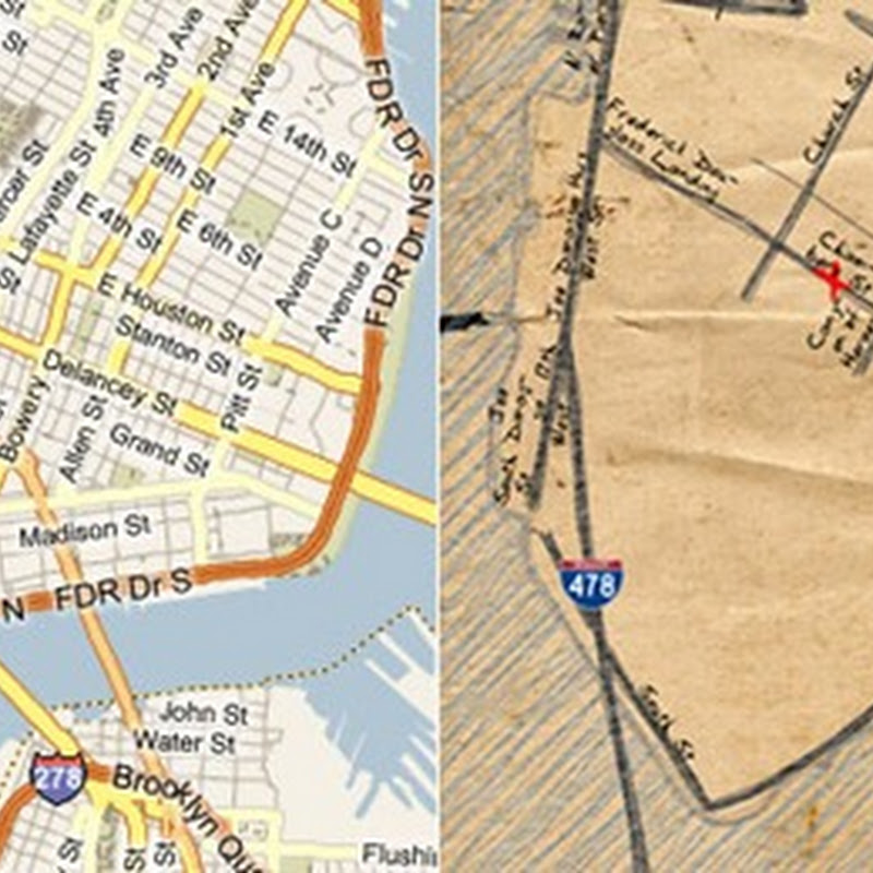 Bing Destination Maps creates cool hand sketched directions