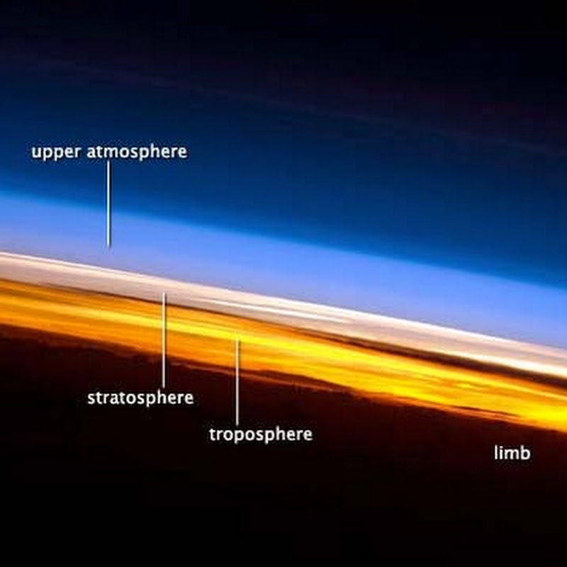 ISS crew captures spectacular view of earth's atmosphere
