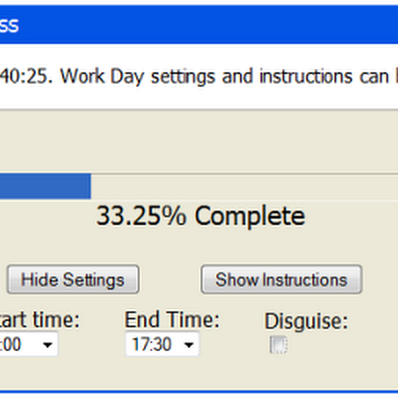 A Progress Bar for your Work Day