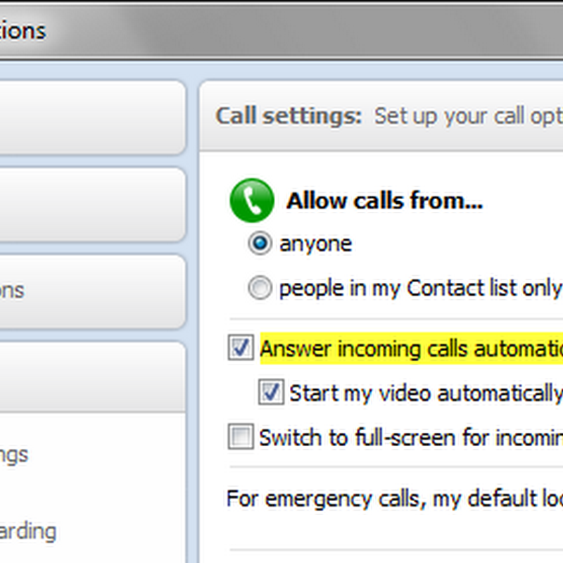 Automatically answer incoming Skype calls from selected contacts with Skype Auto Answer