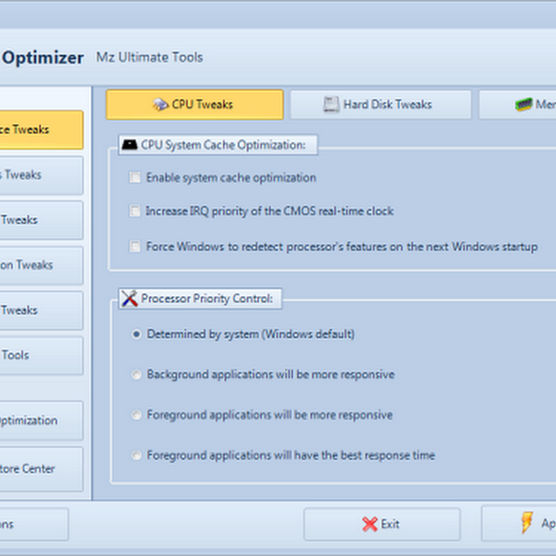 Mz 7 Optimizer: The ultimate Windows 7 customization tool