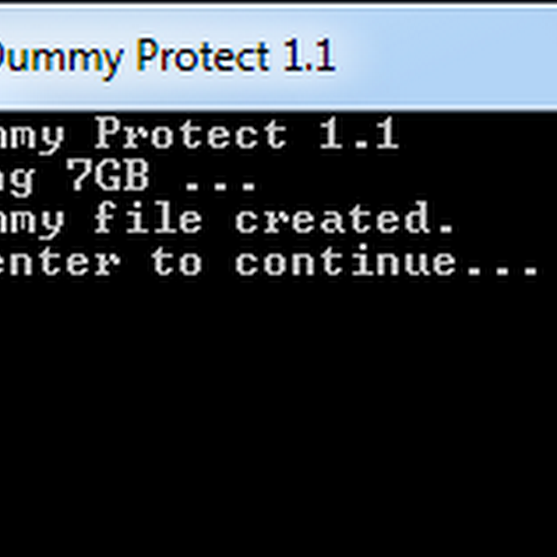 USBDummyProtect protects USB Drives from viruses by filling up empty space