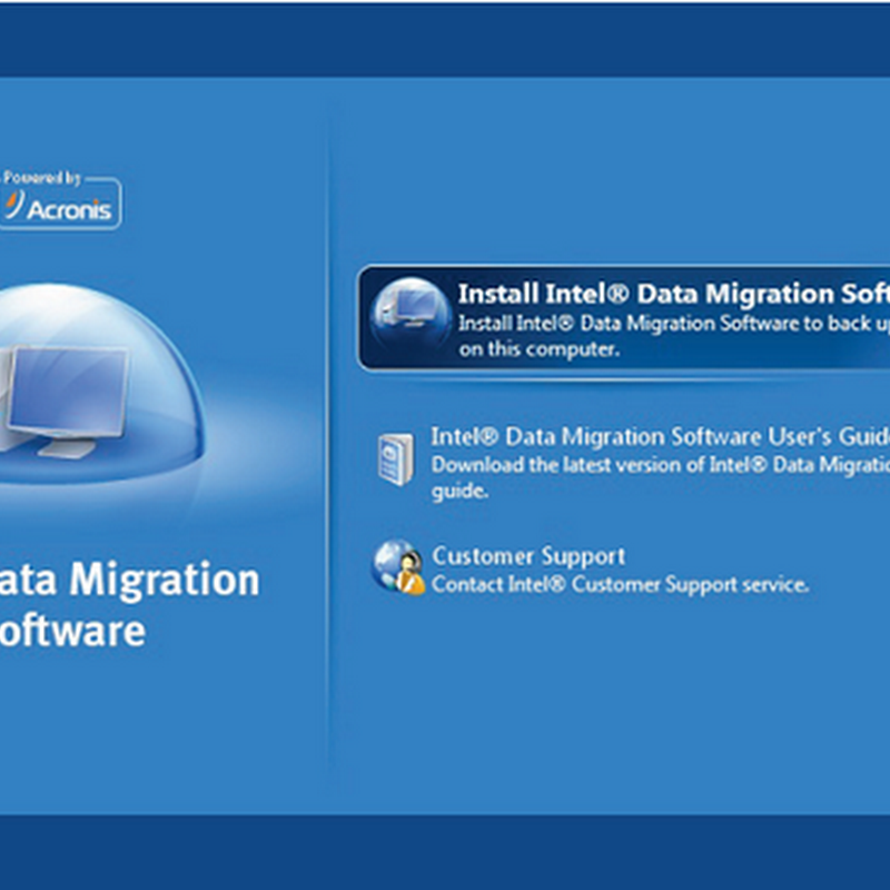 Intel Hard drive to SSD Data Migration Software