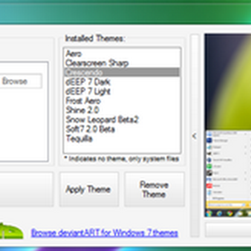 Free Windows 7 Theme Manager: Install, remove and manage themes