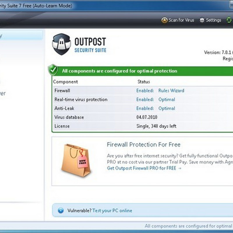 Agnitum launches free Outpost Internet Security Suite