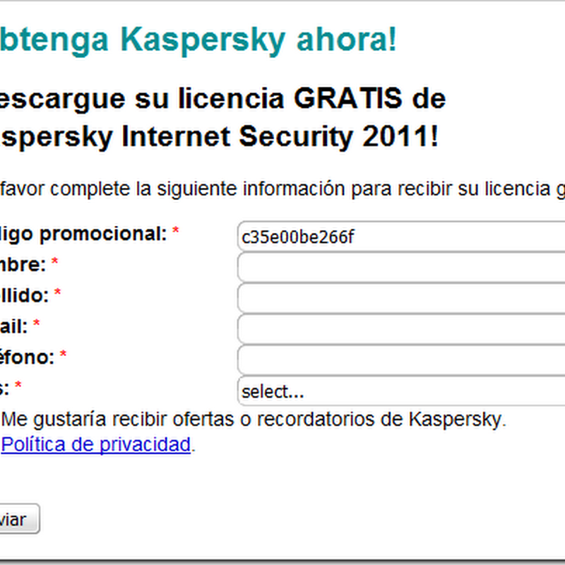 Free 1 Year Kaspersky Internet Security 2011 License