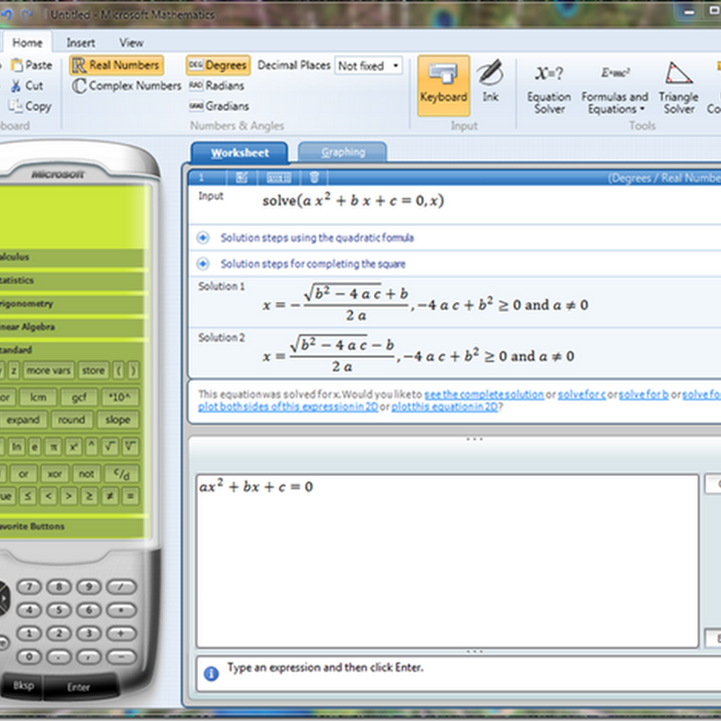 Microsoft Mathematics 4.0 - Now Free and Available For Download