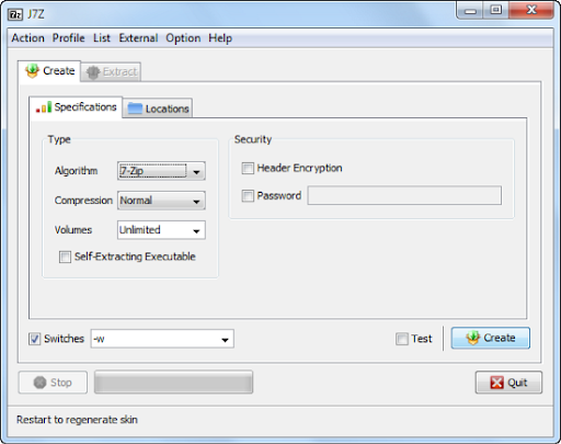 J7Z is an Alternative GUI For 7-Zip - Instant Fundas