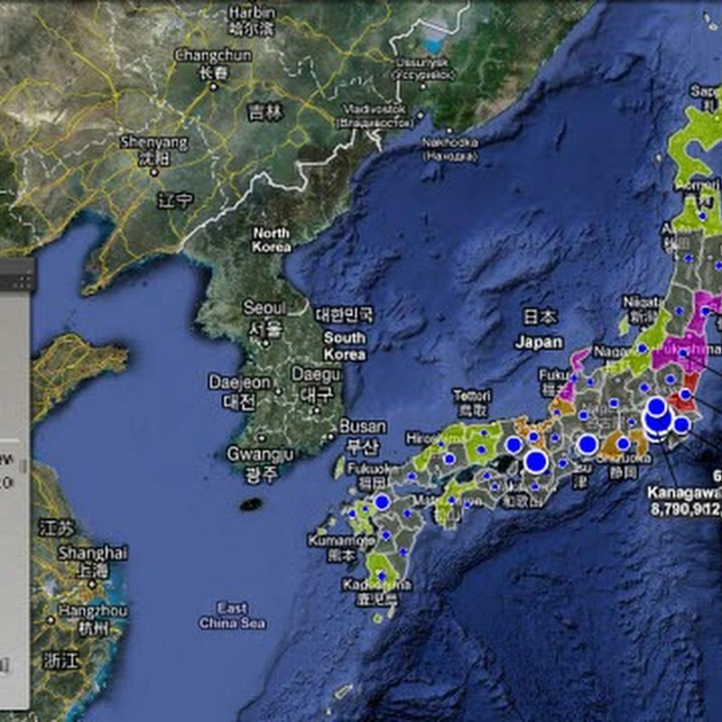 Real-Time Map of Japanese Radiation Levels, Wind Patterns And Tokyo Blackouts