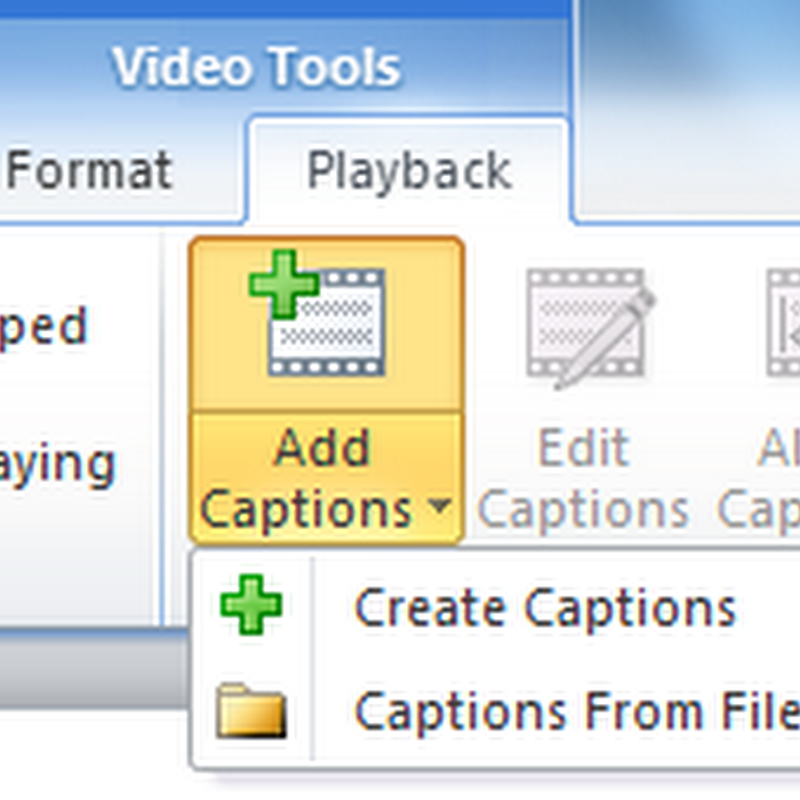 Add Subtitles to PowerPoint Embedded Video and Audio