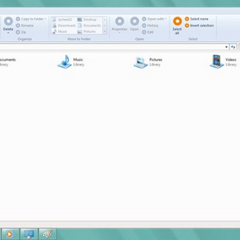 Windows 8 Leaked Screenshot: Explorer Ribbon