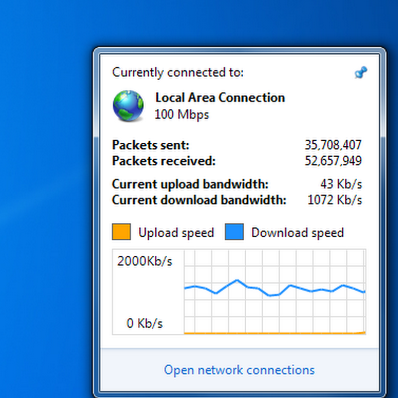 Sleek Network Activity Indicator for Windows 7