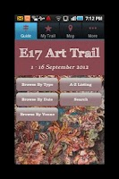 Screenshot of E17 Art Trail 2012