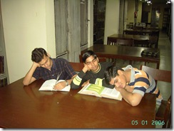 Sleeping in library