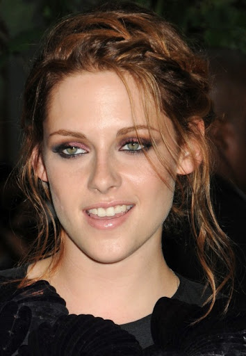 Kristen Stewart shined in this romantic, braided updo hairstyle at a special