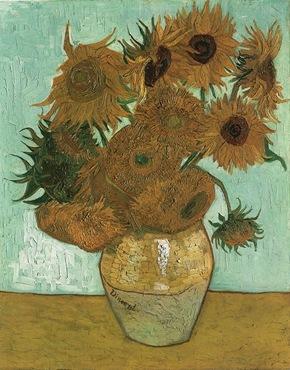 Vase with Twelve Sunflowers