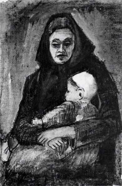 Woman with Baby on her Lap, Half-Length