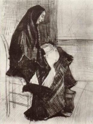 Figure of a Woman with Unfinished Chair