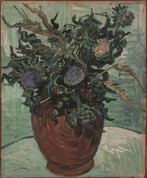 Still Life: Vase with Flower and Thistles