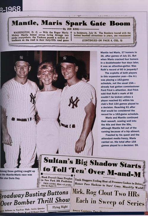 Mickey Mantle, Doris Day,  Roger Maris