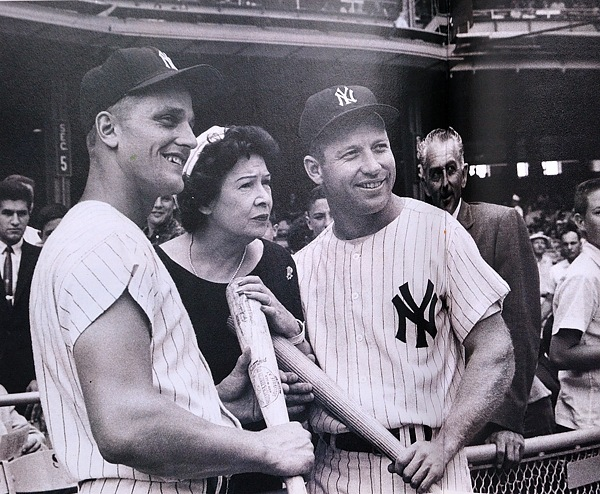 Roger Maris, Claire Ruth, Mickey Mantle