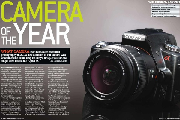 Camera of the Year 2010