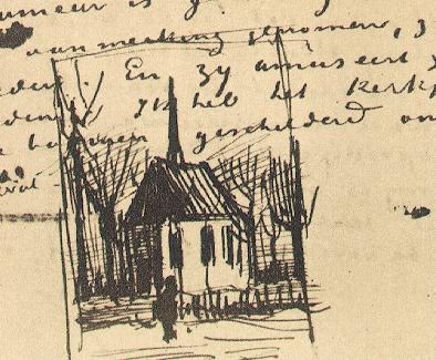 Church in Nuenen, with One Figure