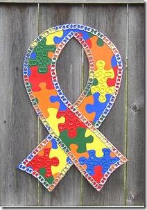 Fita com quebra-cabeças é o símbolo mundial da conscietização do autismo.