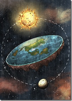 Por incrível que pareça ainda há pessoas que acreditam que a Terra é plana! E que ela é o centro do Universo.